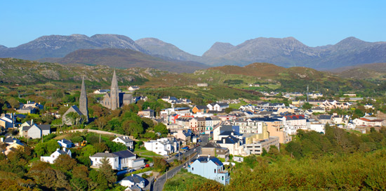 Clifden, Looking from Monument Hill