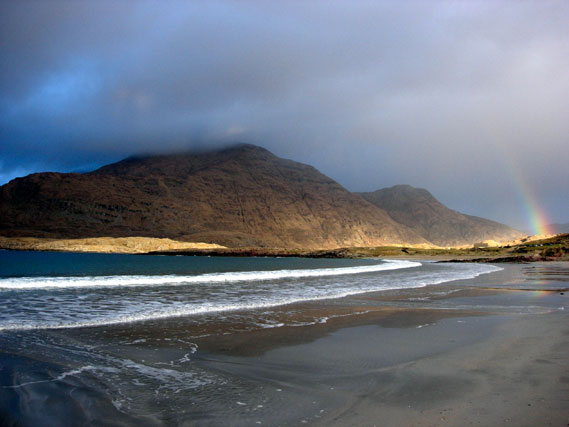 Clouds looming over Glassilaun beach